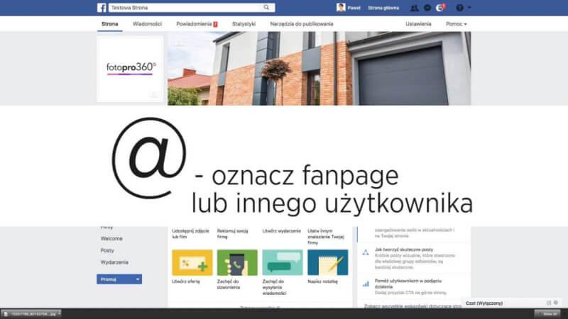 Jak oznaczyć fanpagprofilstronęosobę na Facebook 800x450 - Jak oznaczyć fanpage/profil/stronę/osobę na Facebook? Wpisz @ przed nazwą.